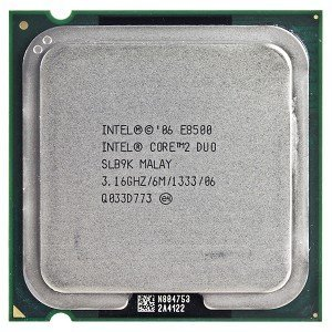Intel Core 2 Duo E8500 3.16GHz 1333MHz 6MB Socket 775 Dual-Core - Duo Intel Core Dual