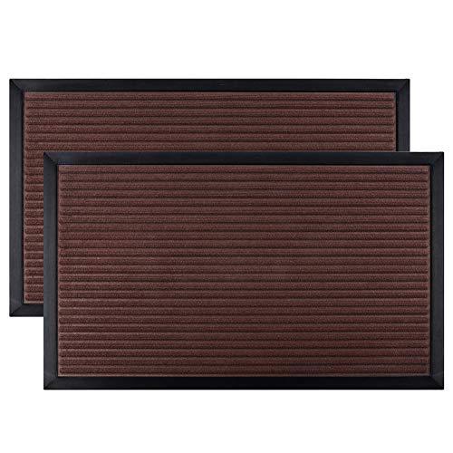 Mibao Entrance Door Mat, Low-Profile Non-Slip Welcome Front Outdoor Rug, Doormat for Entry, Patio(18