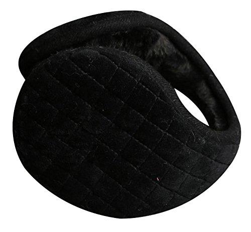 Ilishop Woolen Behind Head Style Winter Gentlemen Earmuff Black Free by ilishop