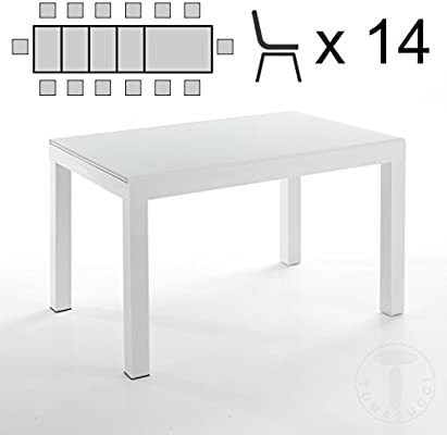 for@home Mesa Extensible Long – White 120/175/230/290/350 cm ...