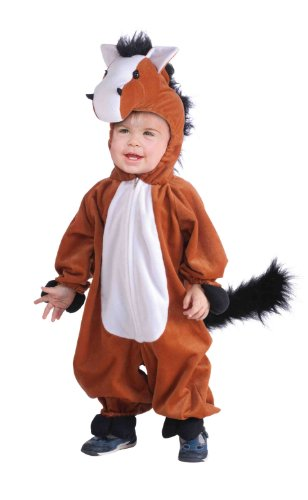 Forum Novelties Horse Costume - Includes a Jumpsuit with Attached Hood - Toddler -