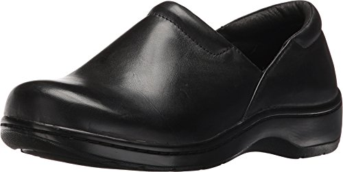 Closed Back Leather Clogs (Tempur-Pedic Women's Kaydi Closed-Back Clog,Black Greasy Leather,US 8.5 M)