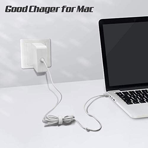 Mac Book Air Charger,Replacement 45w Magsafe 2 T-Tip Power Adapter Charger Compatible with Mac Book Air 11-inch and 13 inch After Mid 2012 (White)