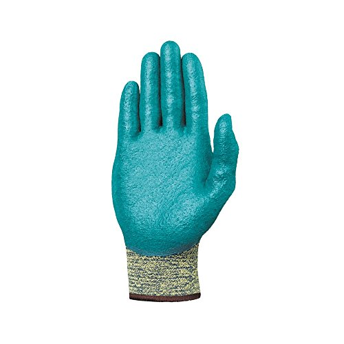 Ansell 103365 HyFlex 11-501 Nitrile Foam Coated Stretch Lined Gloves, 0.33'' Height, 10'' Length, 4'' Wide, Size 7, Blue (Pack of 12) by Ansell (Image #3)