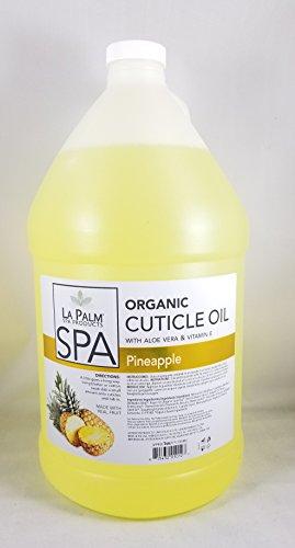 Cuticle Oil - Pineapple Yellow - 1 Gallon - With Aloe Vera & Vitamin E by La Palm Spa Products