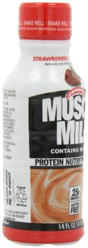 Muscle Milk Genuine Protein Shake, Strawberries 'N Crème, 25g Protein, 14 FL OZ, 12 count