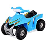 Costzon Kids Ride On Quad, 6V Battery Power Electric Car Vehicle, 4 Wheel Power Bicycle for Toddlers with Light (Blue)
