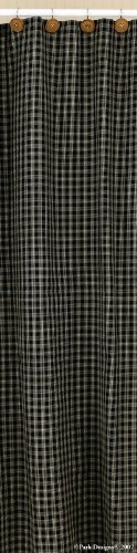 Panel Shower Design (Park Designs Sturbridge Shower Curtain, 72 x 72, Black)