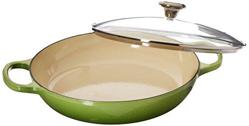 Palm Glasses - Le Creuset of America Enameled Cast Iron Buffet Casserole with Glass Lid, 3 1/2 quart, Palm