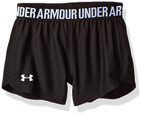 Under Armour Toddler Girls' Play up Short,Black,4T by Under Armour