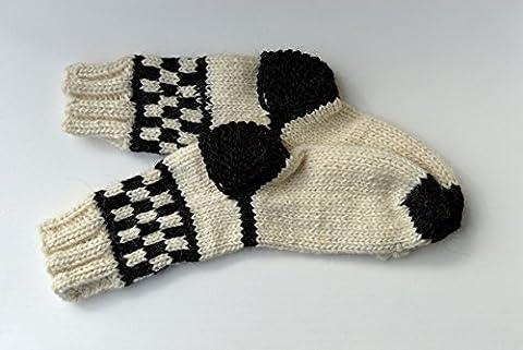 VERY THICK Socks Winter Women Men Ski Sheep Wool Handmade Knitted Knit Warm Bed Boots Climbing Trekking Hiking Heavy Sturdy