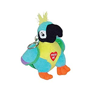 Swearing Polly the Parrot Keychain Rude Talking Parrot Keyring - Present Stocking Filler Novelty Prank Joke Toy for Adults