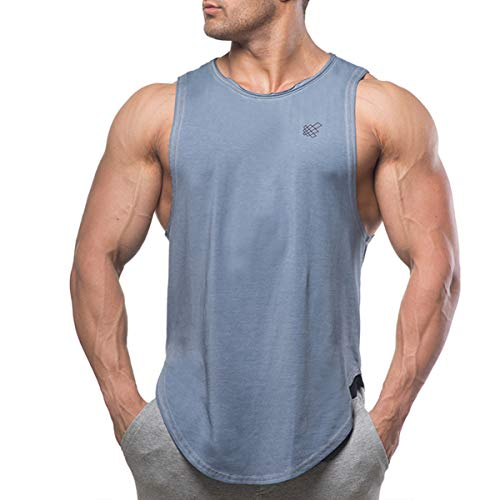 Muscle Cut Stringer Workout T-shirt Muscle Tee Bodybuilding Tank - Range Elect