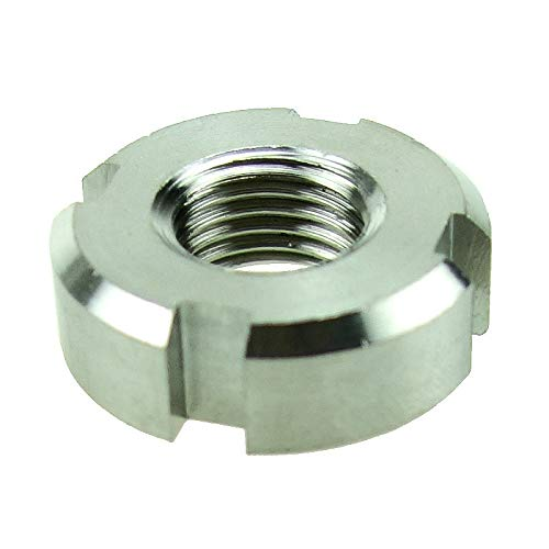 Nuts 304 Stainless Steel Slotted Round Castle Nut for Hook Spanner - (Size: M60 X 1.5 5pcs)