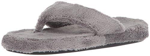ACORN Women's Spa Thong, Grey, Large / 8-9