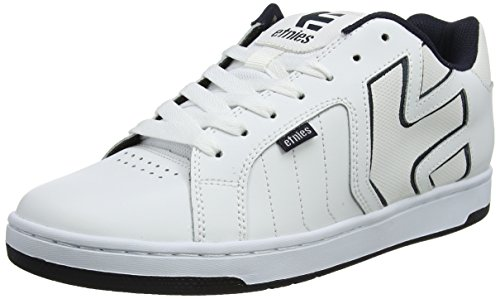 Etnies Men's Fader 2 Skate Shoe, White/Navy, 10.5 Medium (Lifestyle Skate Shoes)