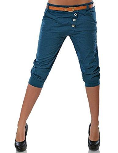 Mode Monocromo Pantaloni Donna Libero Cintura Elegante Capri Tempo Blu di Inclusa Casual Pantaloni Estivi Moda marca Pantaloni Harem Pantalone Pantaloni Jogging OqUvw