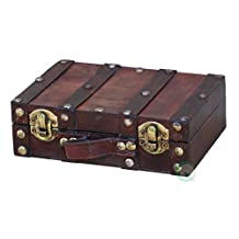 Vintiquewise Antique Style Suitcase/Decorative Box, Small/Mini