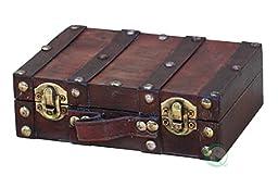 Vintiquewise(TM) Antique Style Suitcase/Decorative Box, Small/Mini