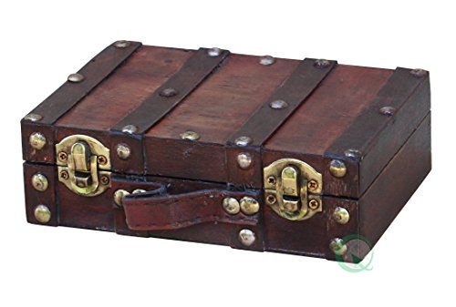 Vintiquewise(TM) Antique Style Suitcase/Decorative Box, Small/Mini (Vintage Small Suitcase compare prices)