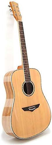 ギター ソリッドウッドギターフルサイズのアコースティックギター初心者 入門 ギター (Color : Natural, Size : 41 inches)