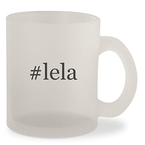 #lela - Hashtag Frosted 10oz Glass Coffee Cup Mug (Twitter Brown Doc)