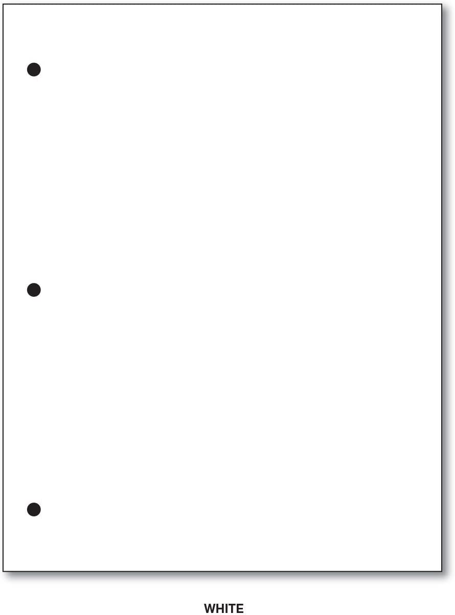 250 Sheets Per Pack 24lb Bond 8.5 x 5.5 3 Hole Punched Bright White Half Letter Size Regular Paper 60lb Text For 3 Ring Binders and Clipboards 90 GSM