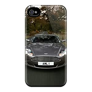 Rugged Skin Case Cover For Iphone 4/4s- Eco-friendly Packaging(voiture)