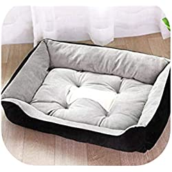 Old street Soft Dog Beds Warm Lounger Sofa for Small Large Dogs Golden Retriever Bed Husky Kennel Cat Nest Puppy Cushion Mat,Black,80X60X15Cm