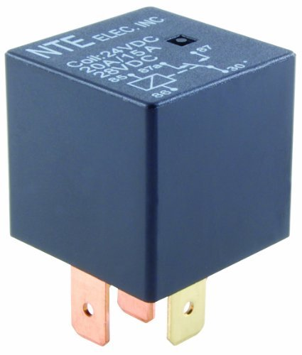 NTE Electronics R51-1D70-12 Series R51 Automotive Relay, SPST-NO Contact Arrangement, 0.250'' Quick Connect Terminal, 1.6W Power, 70 Amp, 12VDC by NTE Electronics