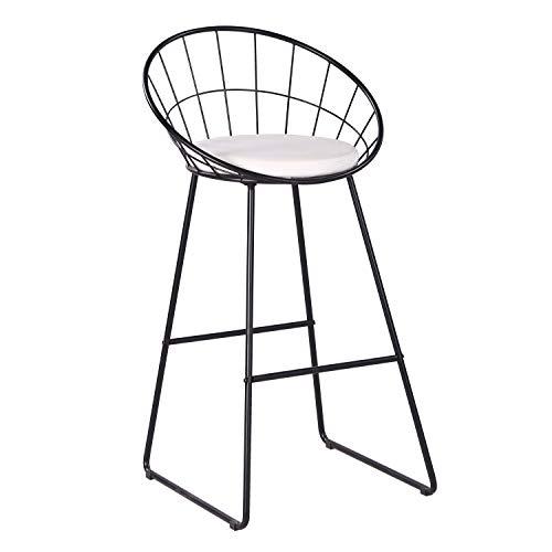 AC Pacific Bar Chair Wrought Iron Stool, Modern Minimalist Barstool,...