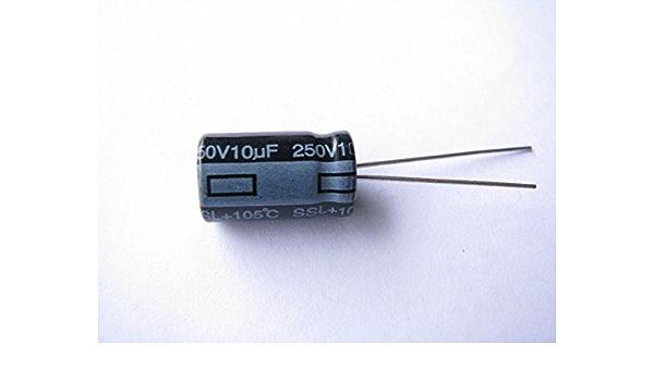 10uF 250DC U.S.A. 250VDC Sprague ATOM TVA-1504 Axial Capacitor 10uF 250V