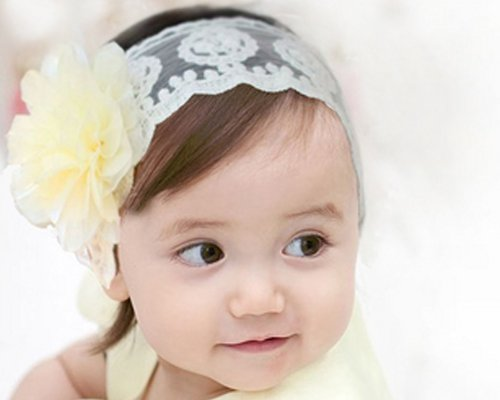 Little Flowers, Cotton Ribbon Baby Hair Band
