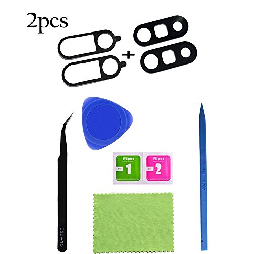 2pcs Eaglestar True Glass Rear Camera Cover Lens Replacement Repair Parts With Glue Tape for LG G5 H840 H850 H820 H831 VS987 LS992 ( Any Carriers )+Repair Tool from Eagle