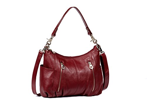 Obosoyo Fashion Lady's Hot Sell Soft Cro - Maroon Leather Grain Shopping Results
