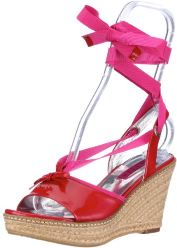 JETTE Colour Fever Wedge Sandal 63/21/14475 Damen Sandalen Rot (red/pink 151)