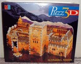 Alhambra Palace, 254 Piece 3D Jigsaw Puzzle Made by Wrebbit Puzz-3D