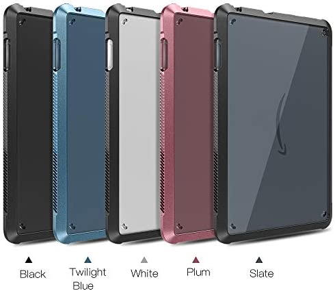 TiMOVO Case for All-New Kindle Fire HD 8 Tablet and Fire HD 8 Plus Tablet (tenth Generation, 2020 Release), Ultra Slim Shockproof TPU Air-Pillow Edge Protective Back Cover Case, Twilight Blue