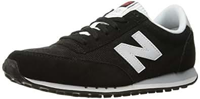 New Balance Women's 410 Prep Pack Lifestyle Sneaker, Black/White, 5 B US