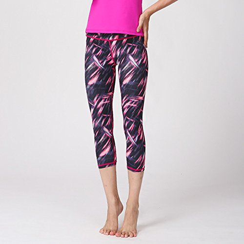 Xuanytp Yogahosen Hosen Elastische Fitness Hosen Weibliche Dünne 3D Print Dünne Leggings Training Hosen Jogginghose Jogger Hosen Hosen