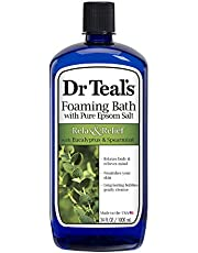 Dr Teal's Foaming Bath (Epsom Salt), Eucalyptus Spearmint, 34 Fluid Ounce