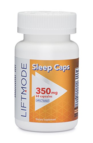 LiftMode Nighttime Sleep Aid Capsules - Melatonin, Oleamide, Vitamin C, L-THP (Yan Hu SUO)   Vegetarian, Vegan, Non-GMO, Gluten Free - 60 Count