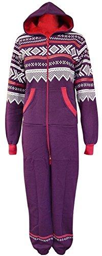 GG Womens Lusia Aztec Print Unisex Ladies Jumpsuit- Purple ML 8-10