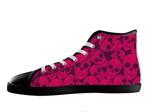Zapatos De Lona Para Mujer Top Day Of The Dead Diseño Sugar Skull Zapatos15