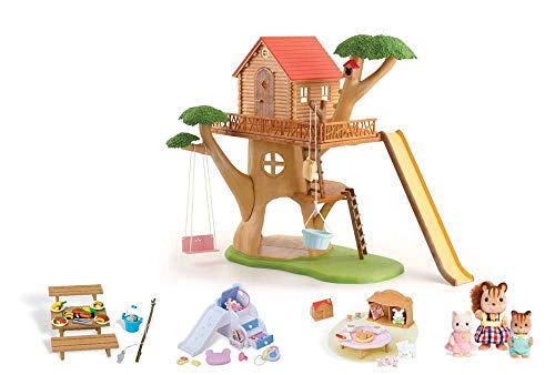 Calico Critters Adventure Treehouse Gift Set (Renewed) (Critters Calico Adventure Tree)