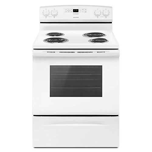 White Electric Stove - Amana 30 in. 4.8 cu. ft. Electric Range in White