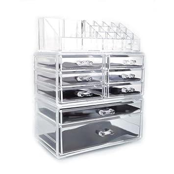 Amazoncom Acrylic Cosmetic Table Organizer Makeup Holder Case Box