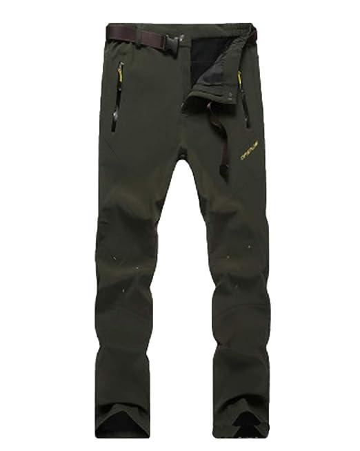LiangZhu Hombre Ski Trekking Espesar Montaña Pantalones De ...