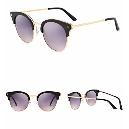LXKMTYJ Gafas De Sol De Moda Mujer Polarizador Circular Unidad De Bastidor Grande Gafas De Sol, Púrpura