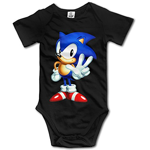 JSWALA Baby's Sonic The Hedgehog Bodysuit/Climbing Clothes Black]()